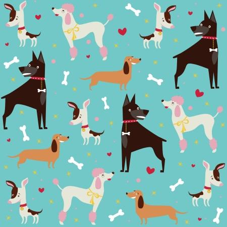 Leuke naadloze honden patroon