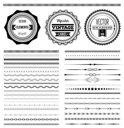 Big set of vector dividers for web design