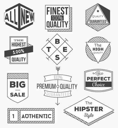 Collection of vintage labels, arrows, ribbons, symbols and design elements