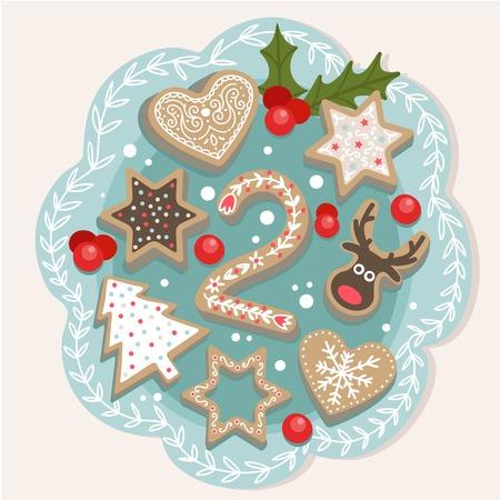 Boże Narodzenie plakat. Cute kolorowe świąteczne Kalendarz adwentowy. Odliczanie do Bożego Narodzenia 2 Ilustracje wektorowe