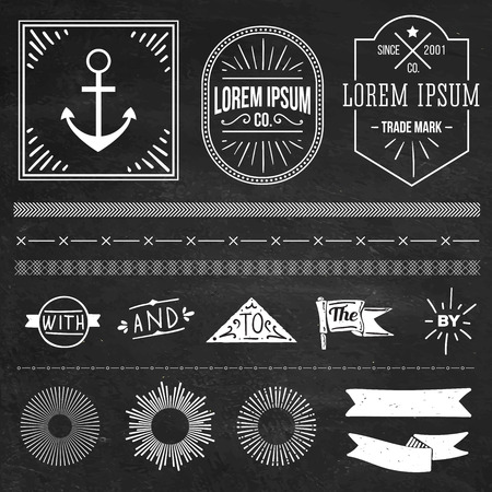 hipster: vintage hipster labels and logo Illustration