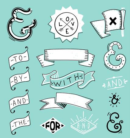 catchword: Design elements set and catchwords