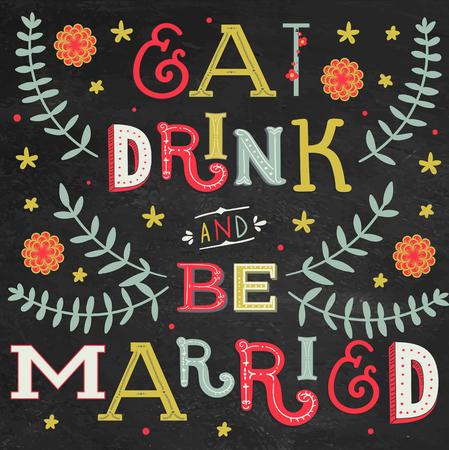결혼식 초대장 빈티지 표기 배경 : 먹고 마시고 결혼