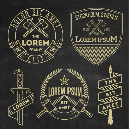 collection of hipster vintage labels, logos, badges for your business