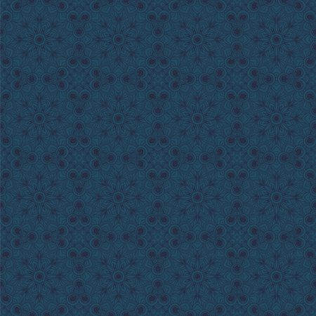male: Dark blue male seamless pattern in oriental style