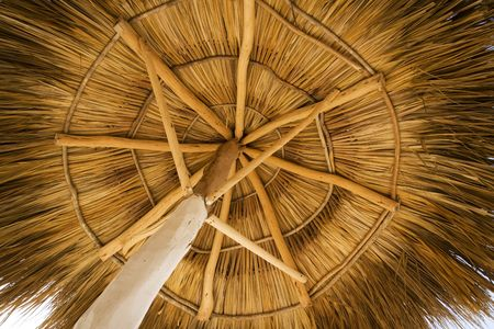 palapa: View from under a palapa, on a beach resort