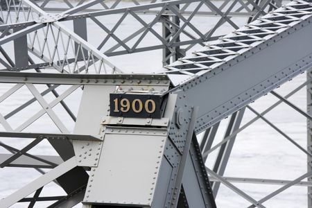 View from the name plate of an old bridge built in 1900