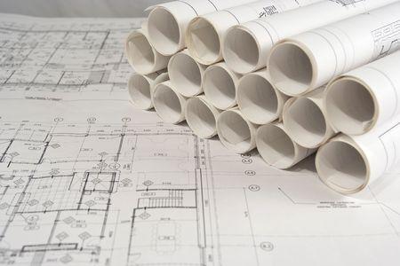 Rollen van de techniek (of bouwkundige) tekeningen (blauwdrukken)