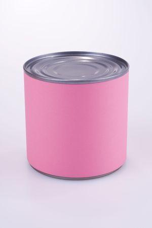 Close-up foto van een roze anonieme tinnen kan