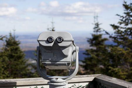 Medaille geëxploiteerd telescoop of kijker, gebruikt voor het bekijken van aard