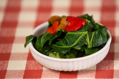 kale: Kale appetizer southern cooking style Stock Photo