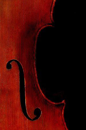Full Sized Cello on Black photo