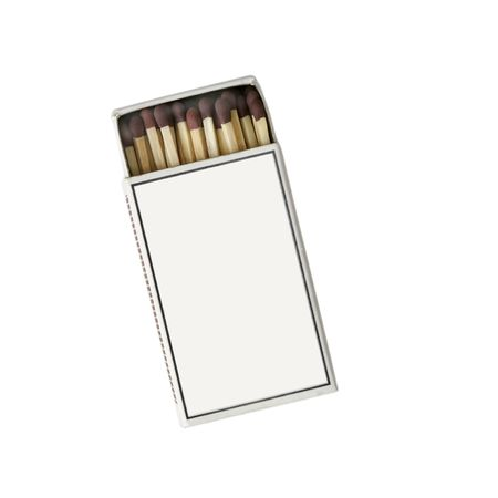 Isolated match box, slightly open, with blank cover photo