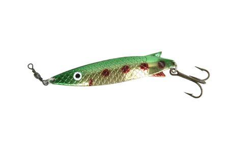 shiney: A shiney green fish hook isolated on white
