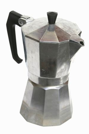 expresso: stove top mocca espresso maker isolated on white