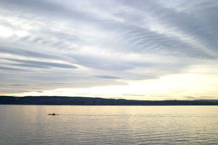 kayaker: Kayaker near Oslo Norway