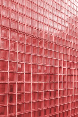 Red cube glass texture image. photo