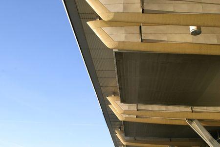 overhang: building detail of an overhang