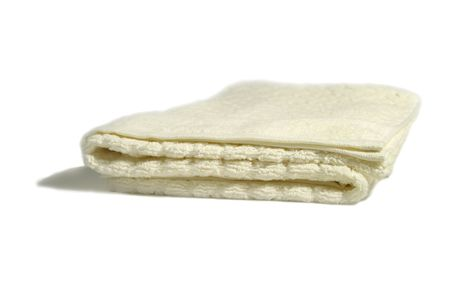 off cuts: white towel isolated Stock Photo