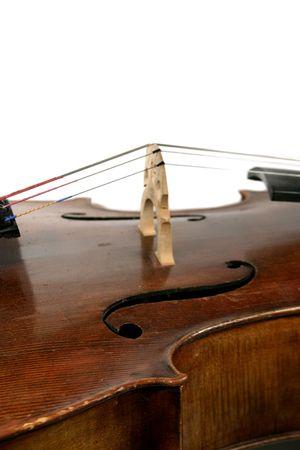 craftmanship: A cello isolated on white. Stock Photo