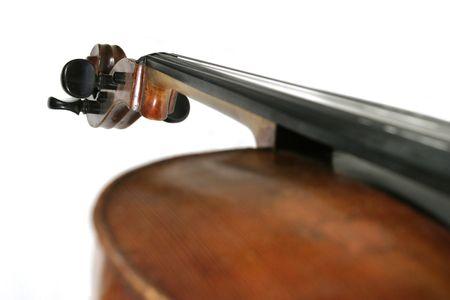 craftmanship: A cello isolated on white Stock Photo