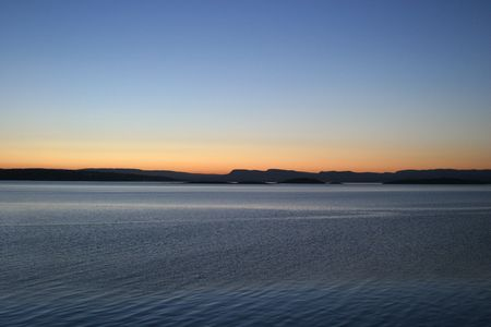 Oslo fjord in the evening photo