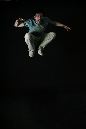 A startled man jumping Stock Photo - 261059