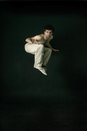 A male startled and jumping Stock Photo - 261060