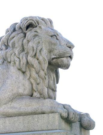 stone lion: Stone lion statue Stock Photo