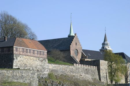 oslo: The fortress in Oslo Norway Stock Photo