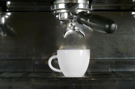 americano: Drawing a double into an espresso, americano, or cappuccino cup.