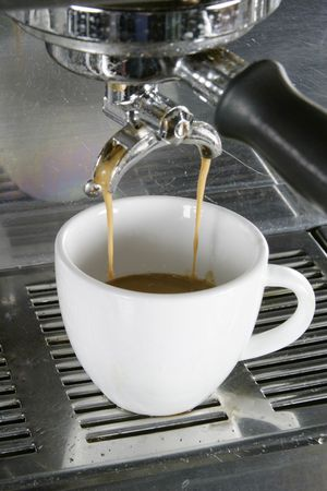 Drawing a double into an espresso, americano, or cappuccino cup. Stock Photo - 263605