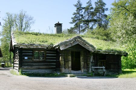 oslo: An old norwegian farm house at the folk museum in Oslo, Norway