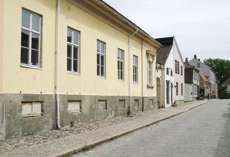 fredrikstad: Stree in Gamlebyen Fredrikstad, Norway