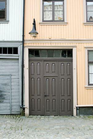 fredrikstad: Street Detail in Gamlebyen, Fredrikstad Norway Stock Photo