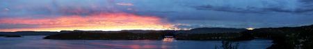 A panarama of Oslo Fjord at sunset, 12310 Pixels X 1938 Stock Photo - 269812