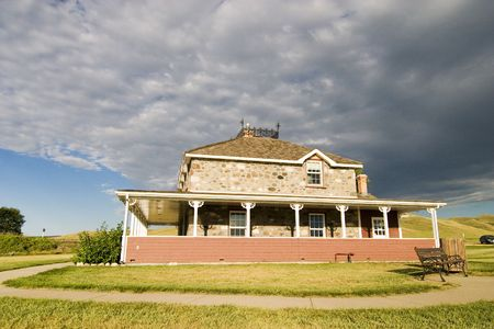 flatland: Goodwin House in Southern Saskatchewan, in the Saskatchewan Landing