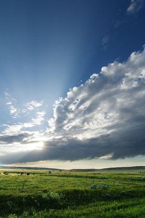 Prairie Lanscape with a vivid sky photo