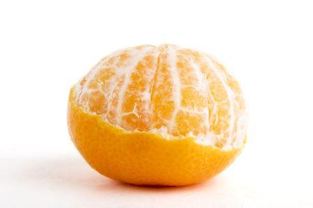 A partly peeled orange photo