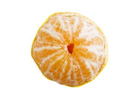 partly: A partly peeled orange