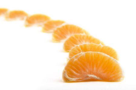 A row of christmas orange slices photo