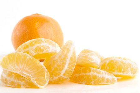 Pile of orange slices. photo