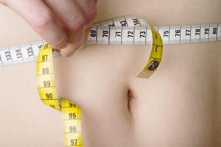 Measuring the waiste photo