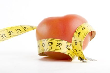 skiny: A tomato wrapped in a tape measure