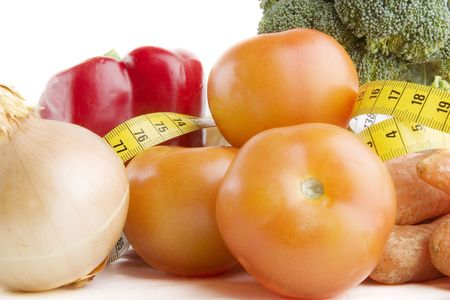 Vegetable group of food with tape measure Stock Photo - 278320