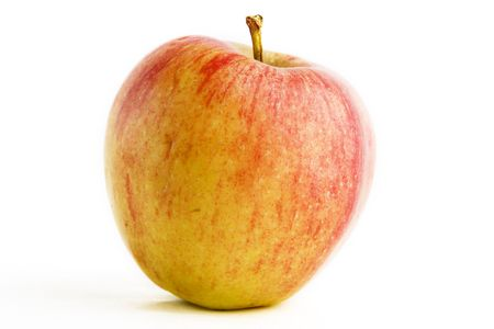 pomme: A single apple isolated on white