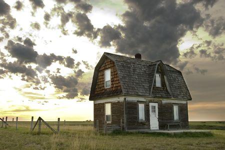 An old house on the prairie photo