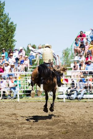 Saddle Bronc riding at a small town rodeo Stock Photo - 310319