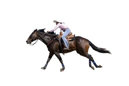 Barrel Racing woman with
