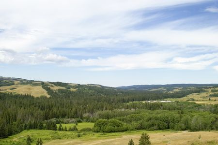 provincial: R.C.M.P fort at the Cypress Hills Provincial Park Stock Photo
